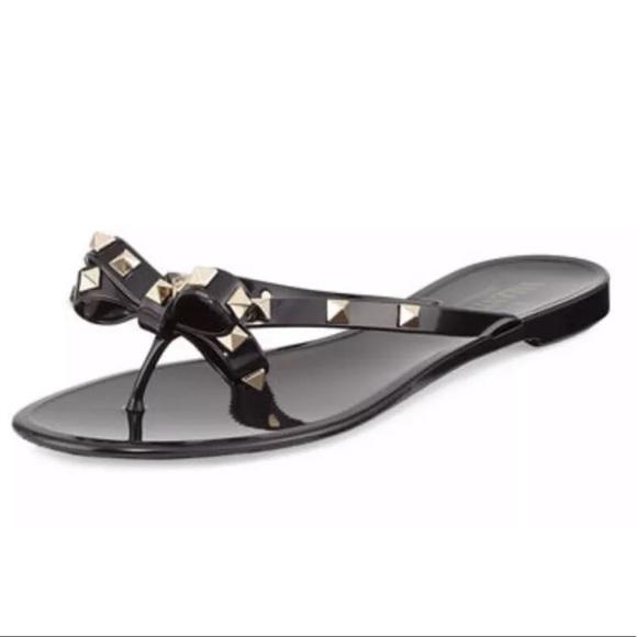 f3bc9ef98 Valentino Rockstud Black PVC Jelly Thong Flip Flop.  M 5bbbd65a619745ac23d47740